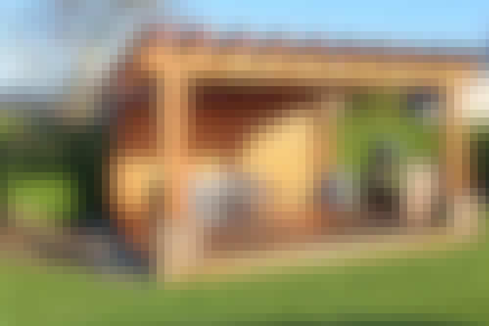 Suveren frittstående terrasse
