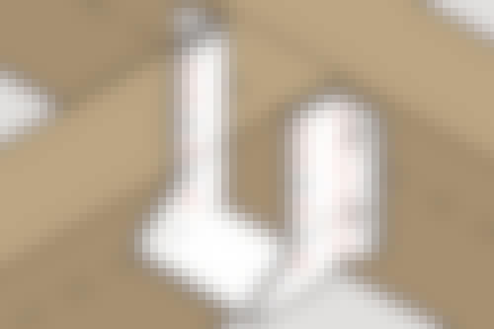 Bjelkesko med utvendige fliker