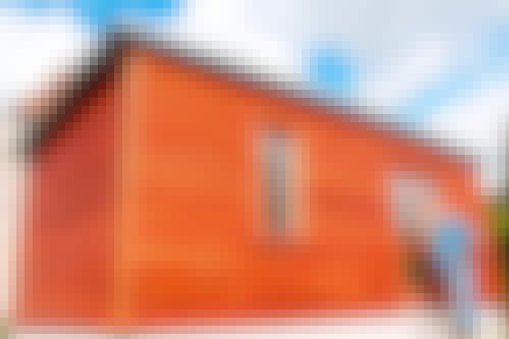 Limilaudoitus ulkoverhouslaudoista: Limittäin asennetut laudat sopivat esimerkiksi seinään.
