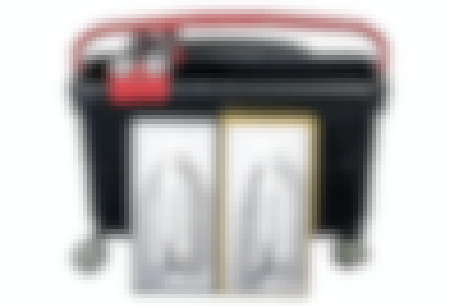 Fuge fliser: Fugesett med rullespann, skumgummibrett og gummibrett.