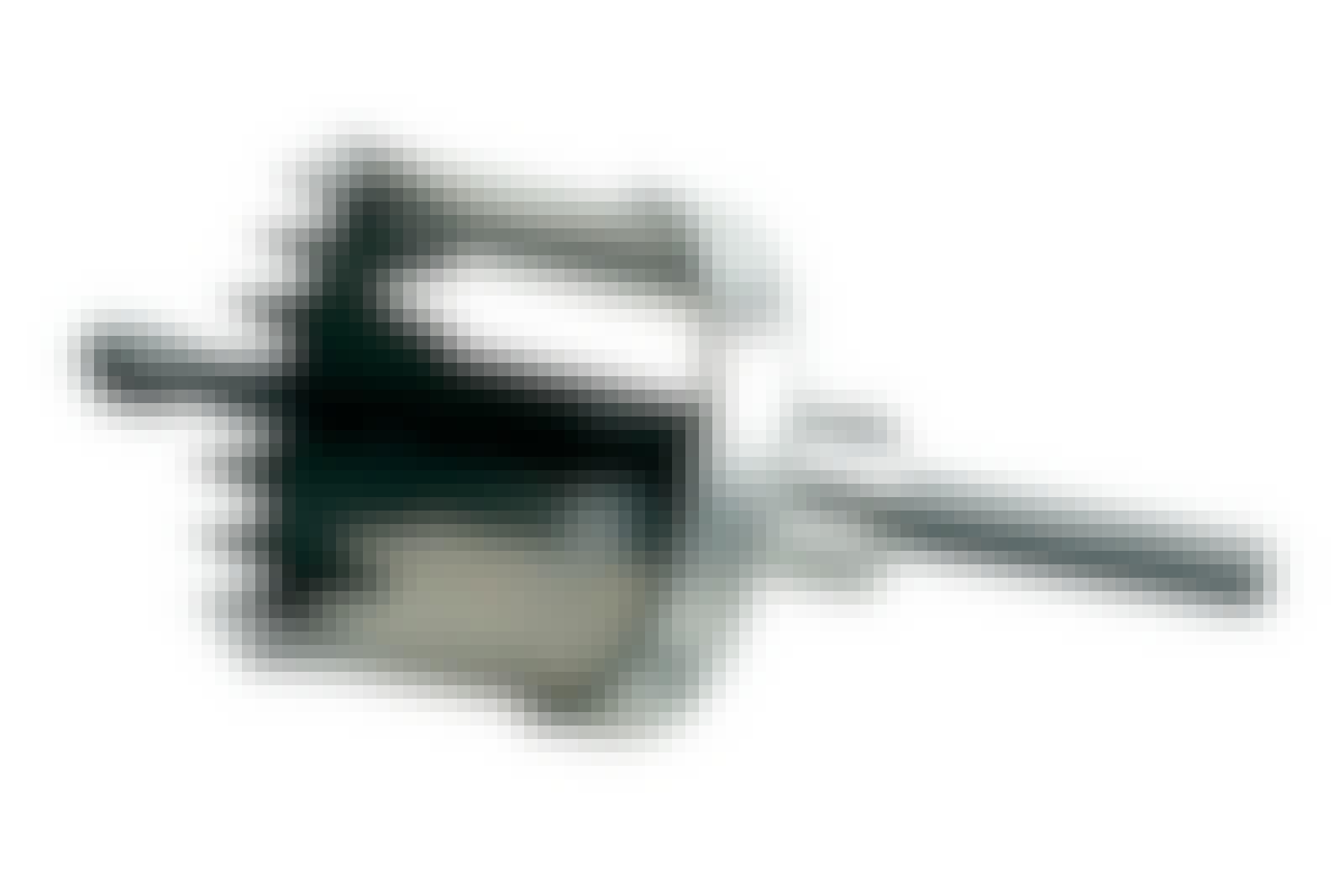 Hullsag: En hullsag med senterbor, som gjør det enklere å bore helt nøyaktig. Her er det en hullsag med en diameter på 76 mm.