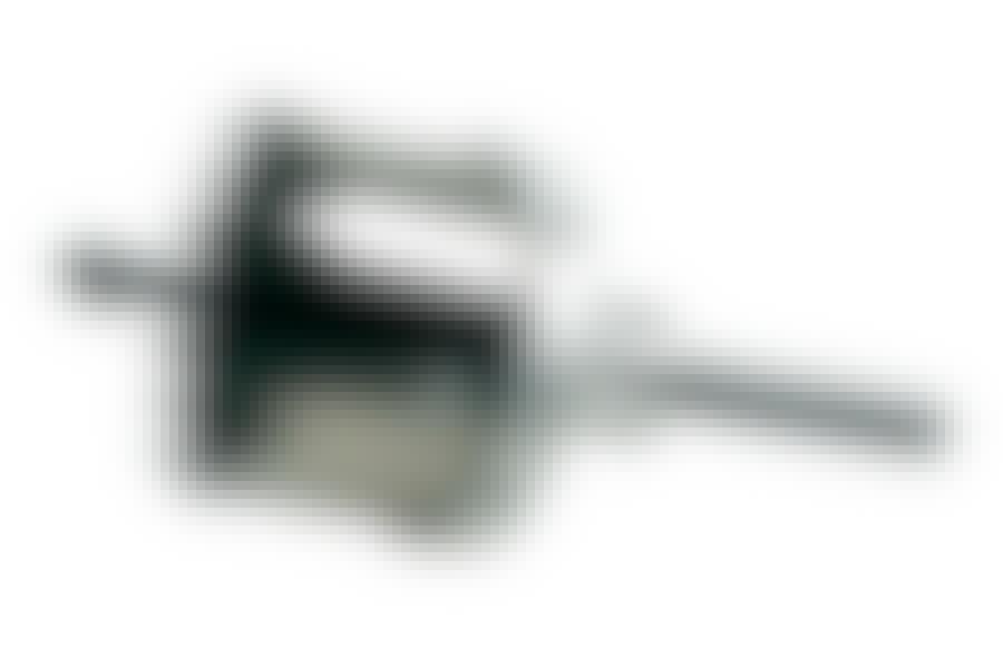 Reikäsaha: Reikäsahassa on keskityskärki, joka helpottaa tarkasti sahaamista. Kuvan reikäsahan halkaisija on 76 milliä.