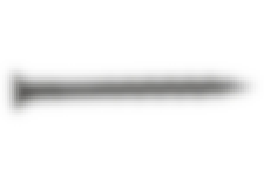 Gipsskruer: Gipsskruerne til vådrumsgips har et helt specielt gevind for at kunne skære ned gennem den hårde plade, uden at den flækker.