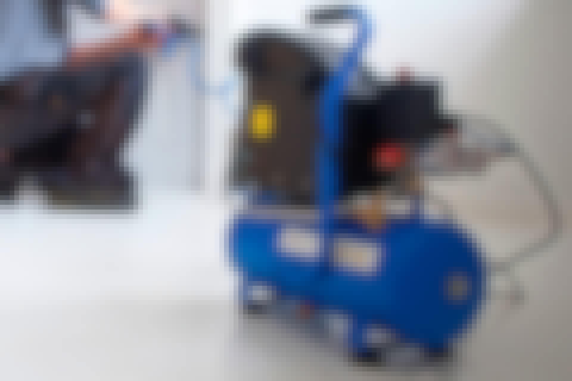 Kompressor test: De små kompressorer er nemme at flytte rundt på og tage med ud af værkstedet.