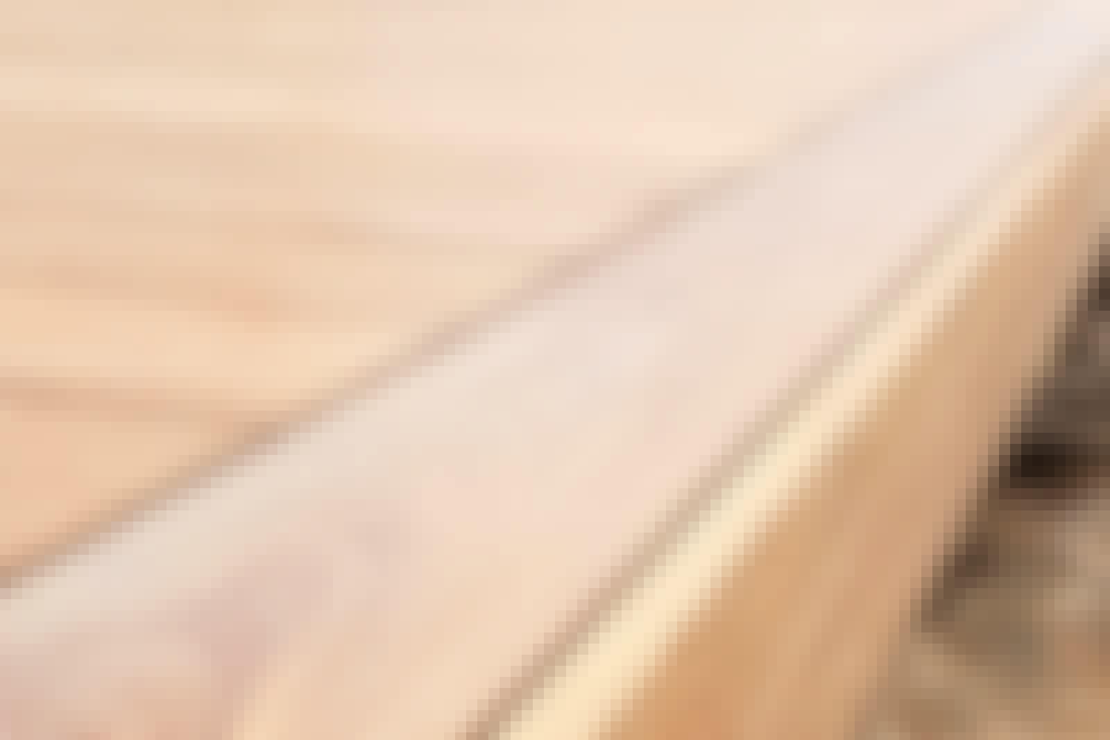 Dette dekkbordet flukter med overkanten på terrassegulvet og gir en ekstra flott finish.