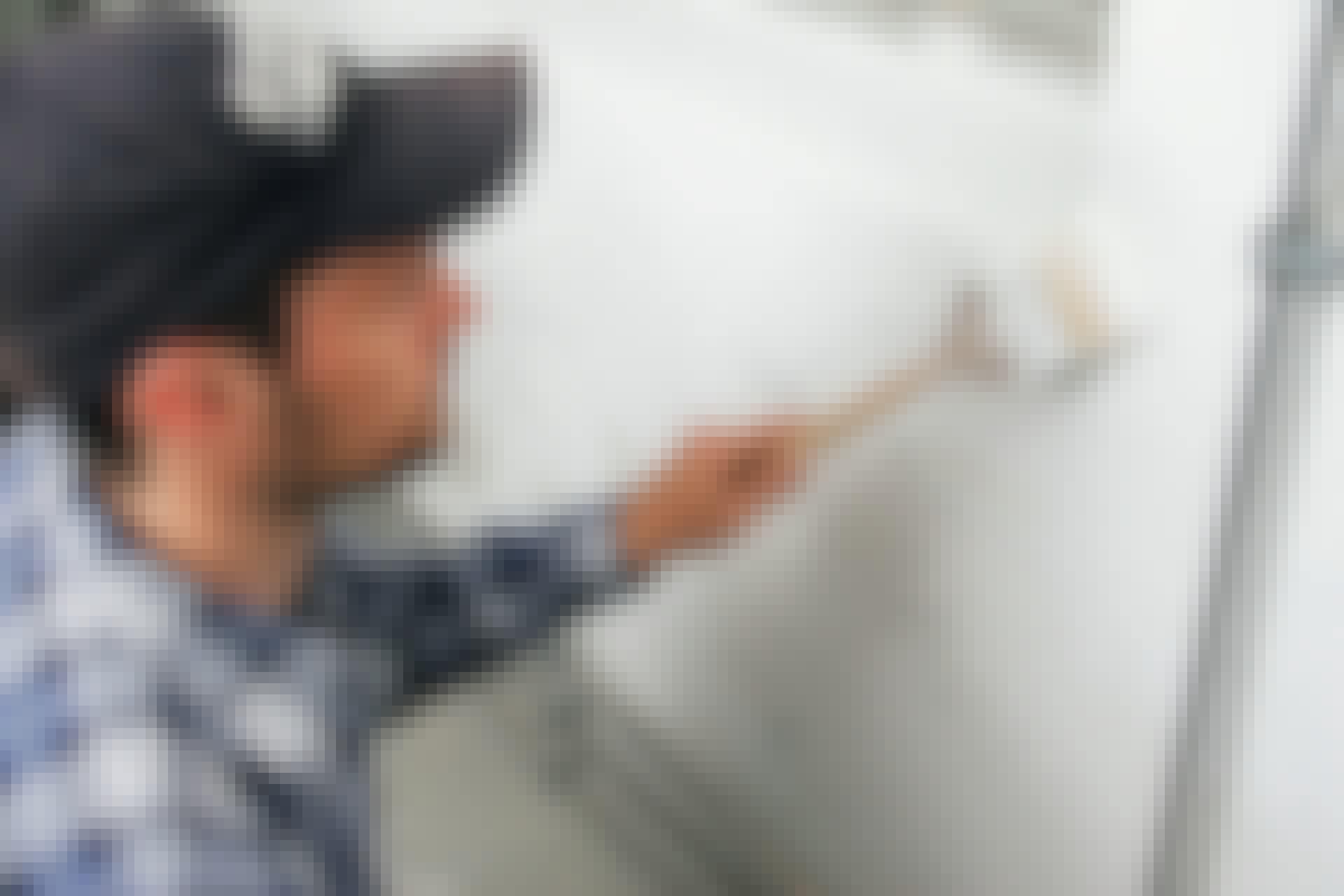 Silikatmalingen lader væggen ånde, så fugt udefra ikke spærres inde.