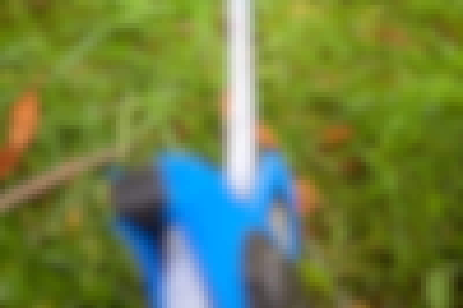 Mål opp størrelsen på plenen. Det er ofte enklest å dele plenen opp i felt, hvis den ikke er en regulær firkant.