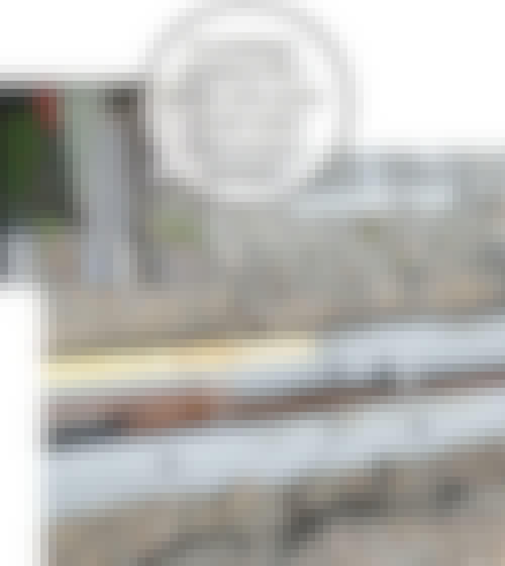 Skyveport: Kamstålet (B) slås i bakken.