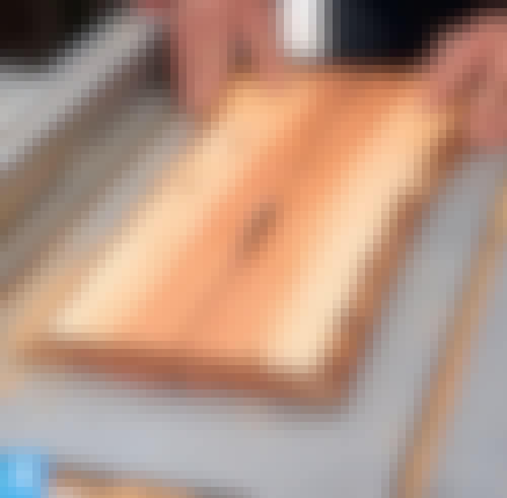 Hartsi: Halkaise lauta keskeltä.