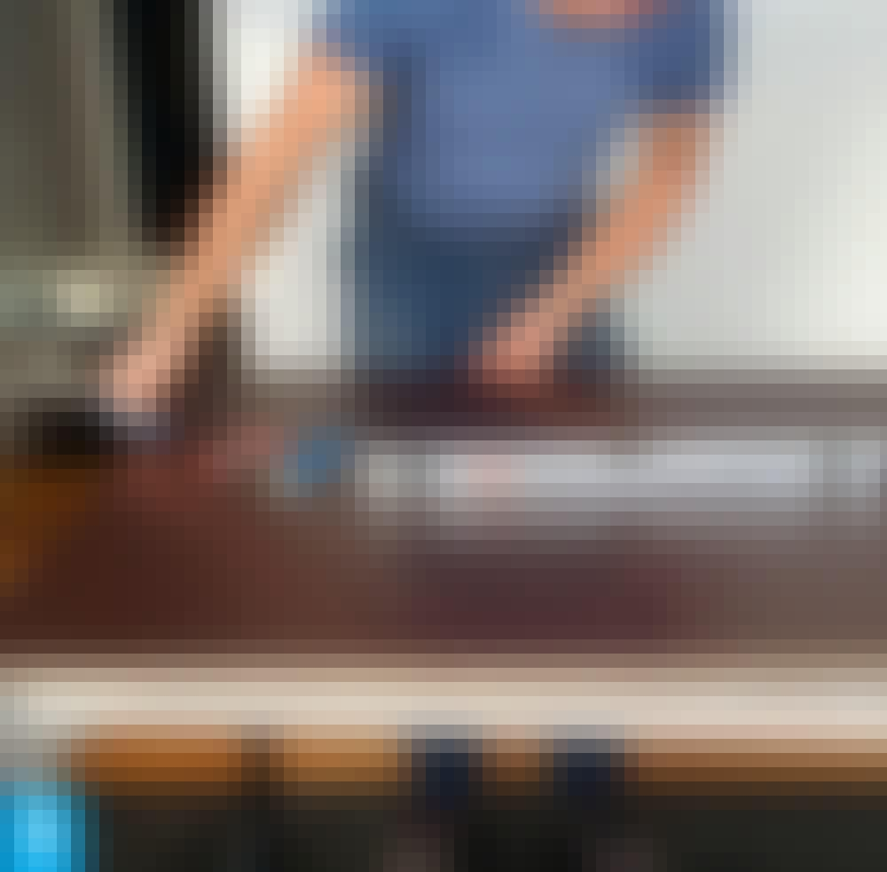 Hartsi: Käytä hyvää työpöytää, joka on vaaka tasossa.