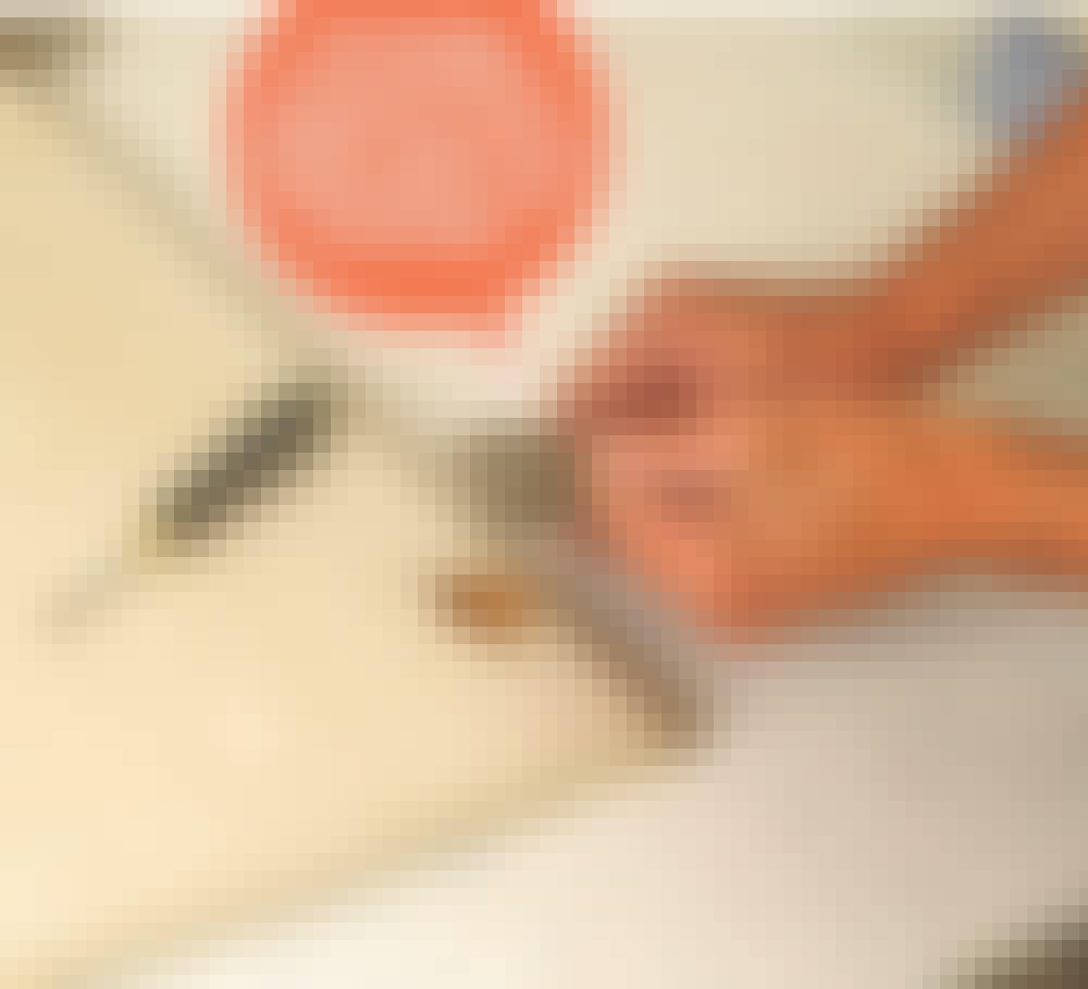 Male køkkenlåger: Klik eller skru lågen af skabet, og afmontér hængslerne.