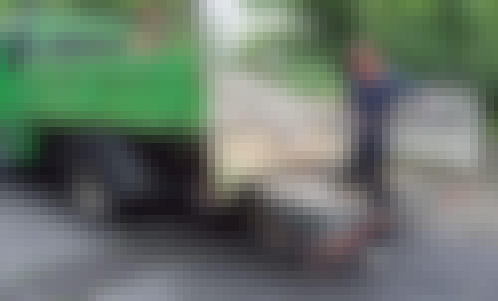 Gabion: Vi har fået leveret et vognlæs sten
