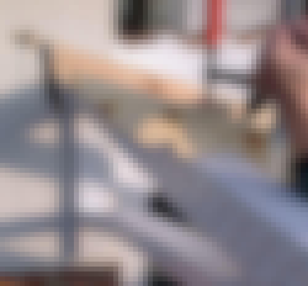 Glasstak: Når hakkene passer, kan sperrene monteres