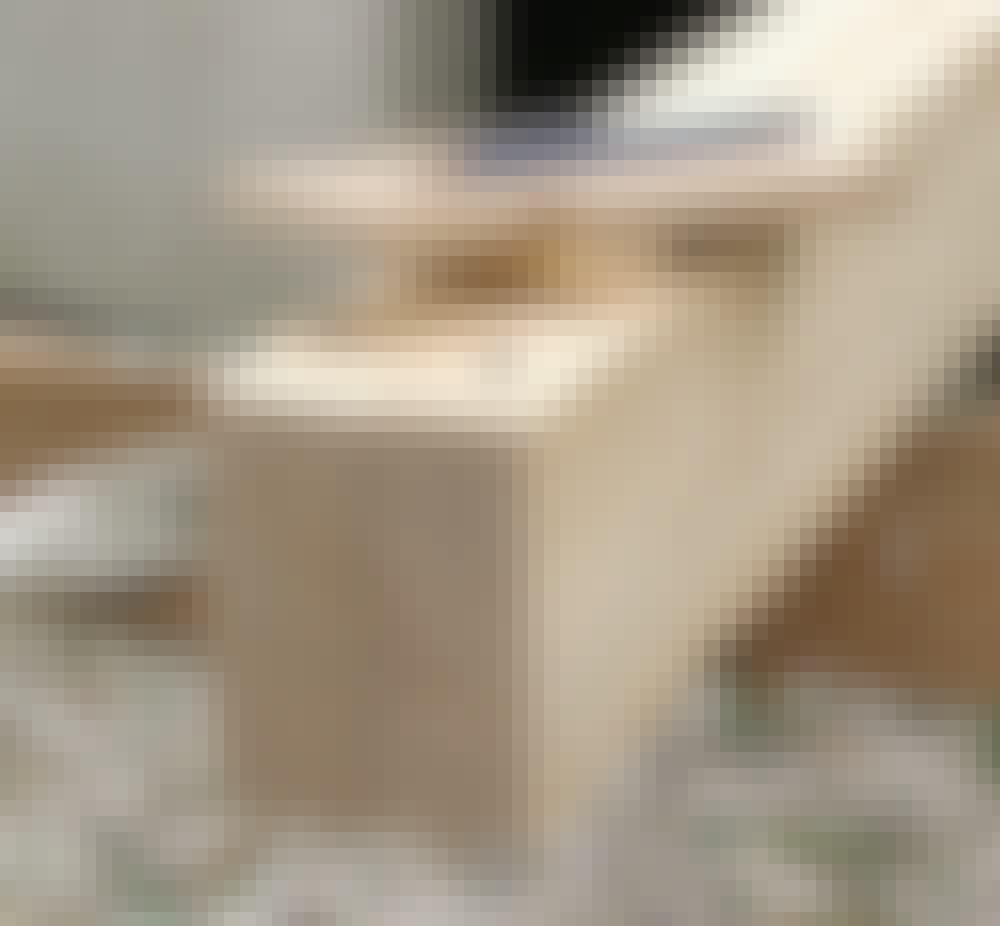 Glastak: Hålet för laxstjärttappen kan nu stämmas ut.