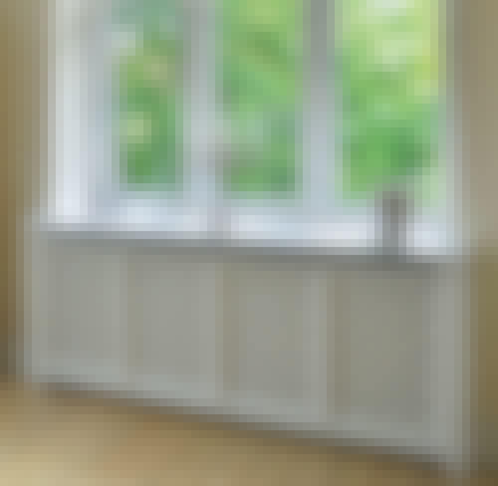 Patterinsuojus on rakennettu osaksi ikkunalautaa.