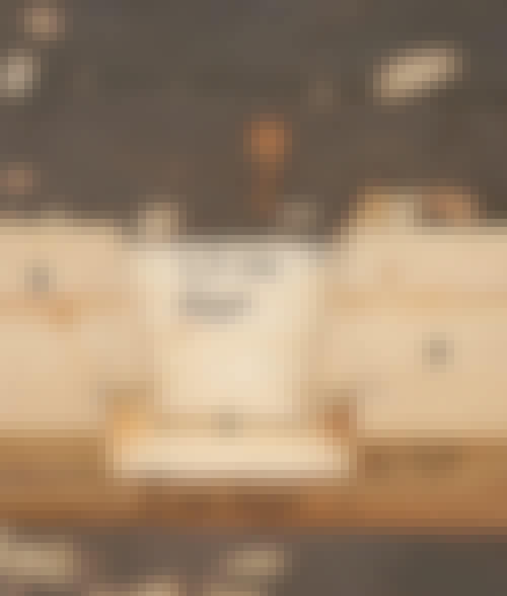 Seilduk: Hullet i overliggeren ser slik ut.