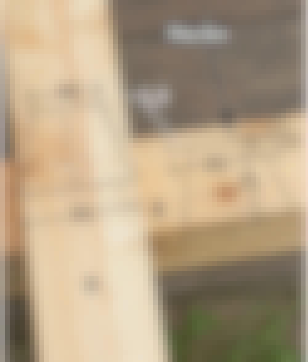 Segelduk: Markera på överliggaren D och överliggaren B enligt bilden.