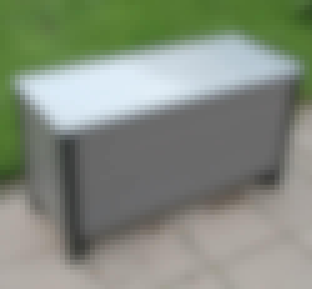 Hjemmelaget putekasse: Dermed er putekassen klar til bruk.