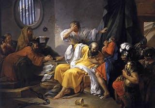 Sokrates vänner försökte övertala honom att fly