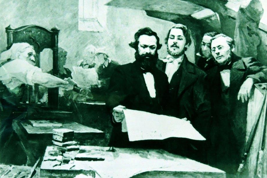 Karl Marx i avisredaksjon