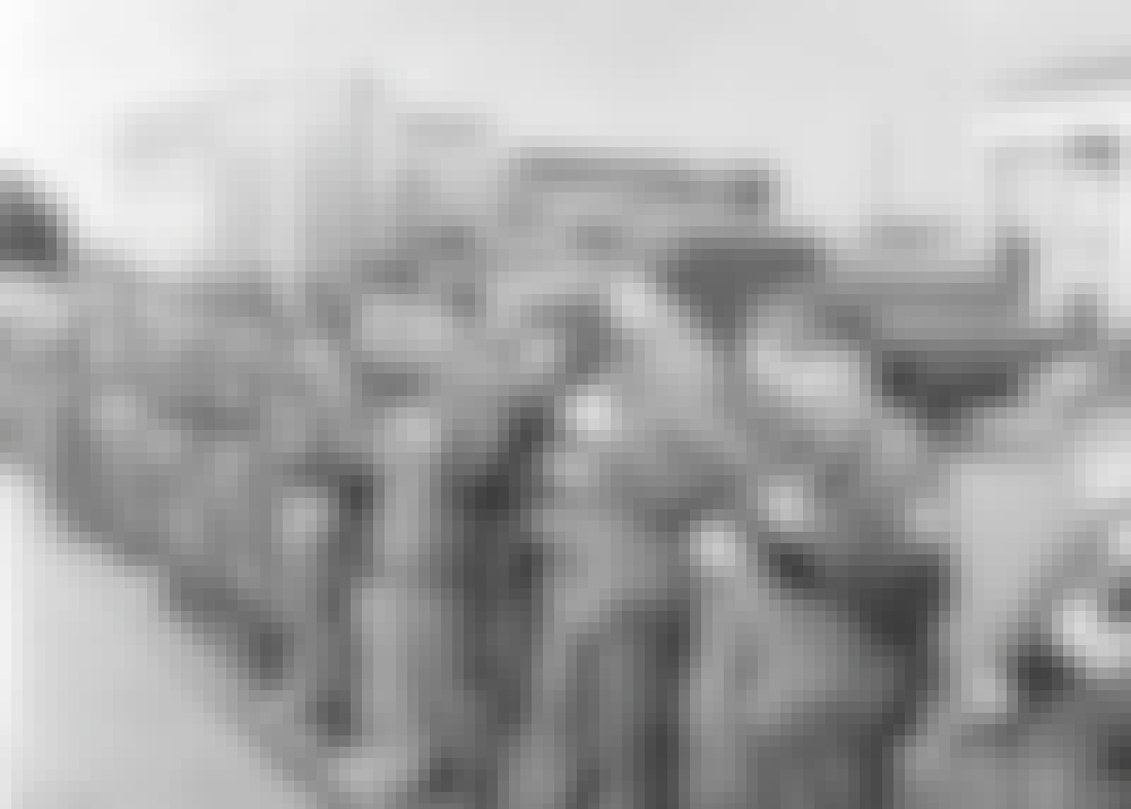 Östtyska soldater år 1961 fungerar som Berlinmur.