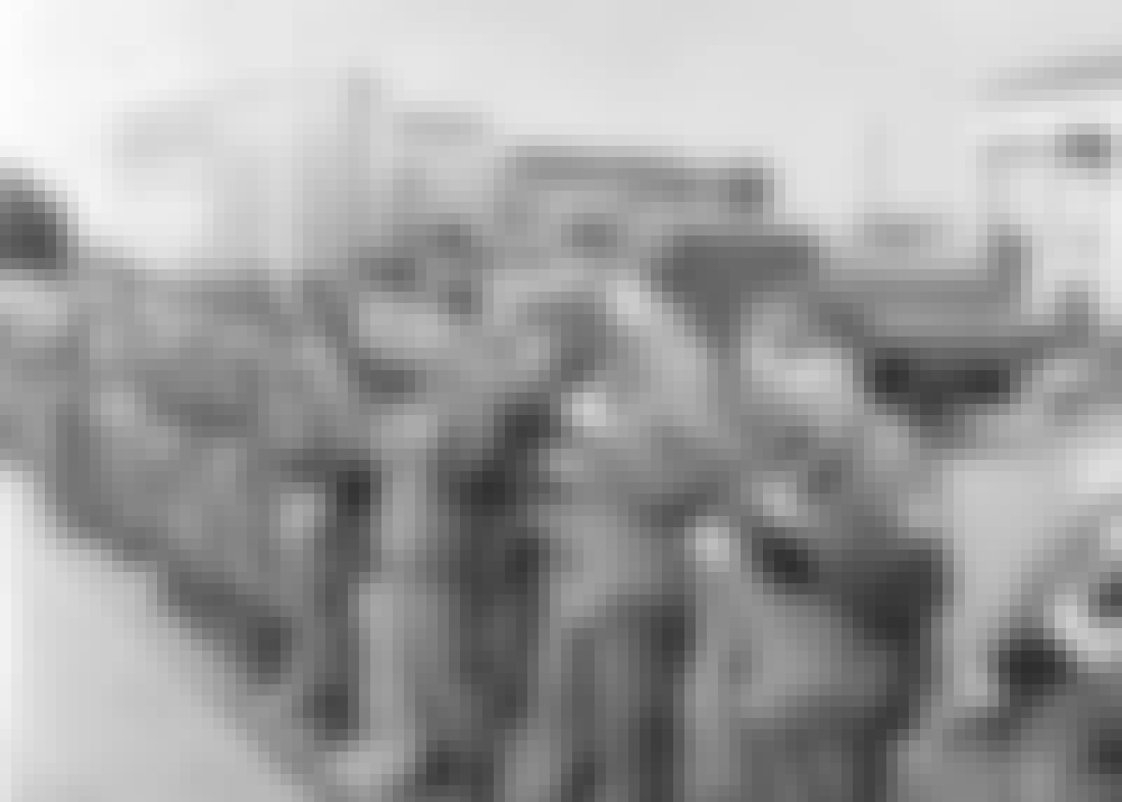 Østtyske soldater fungerer som Berlinmur i 1961.