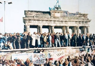 Berlinmuren foran Brandenburger Tor