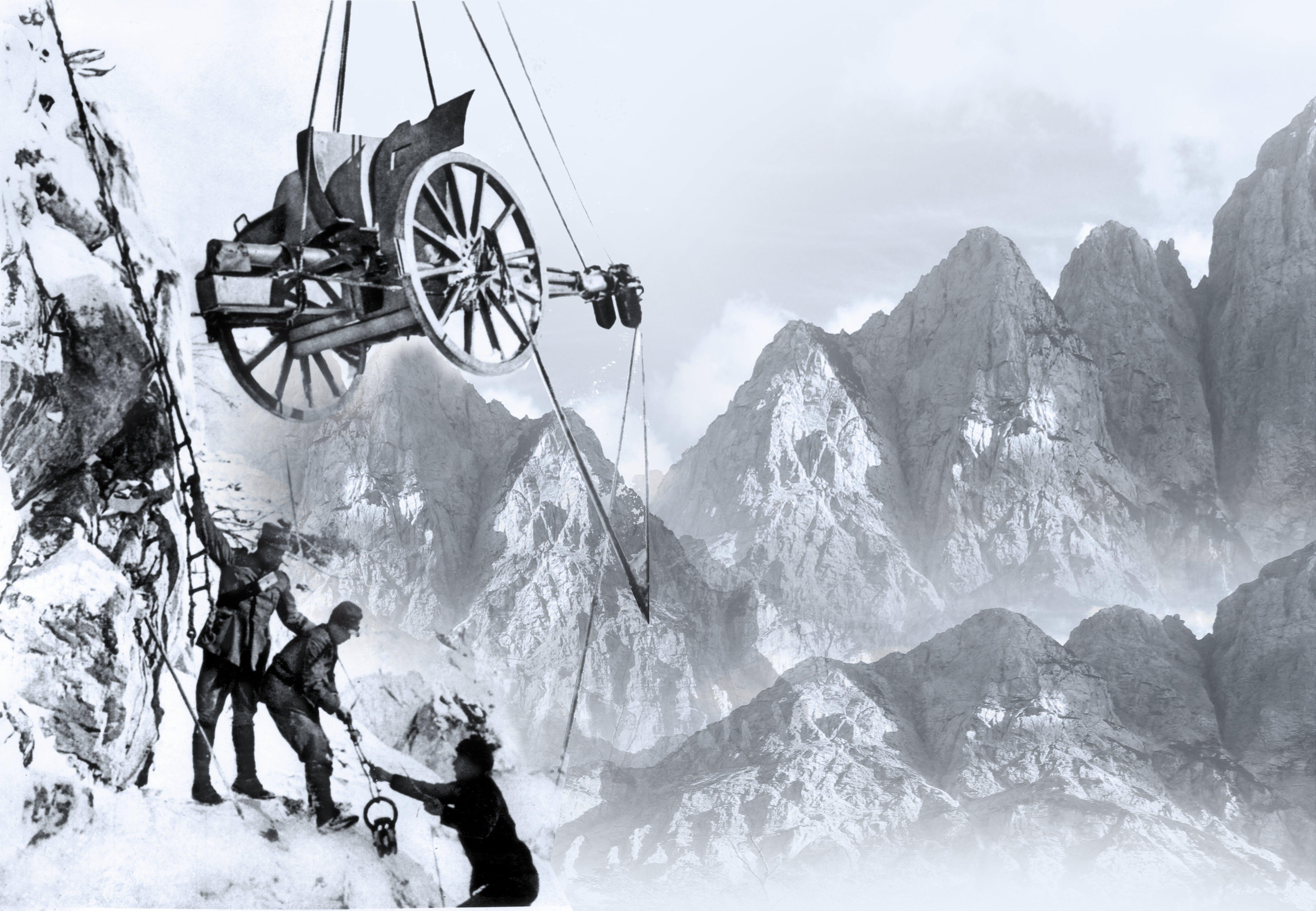 Soldater Kaempede Pa Lodret Front I Alperne Historienet Dk