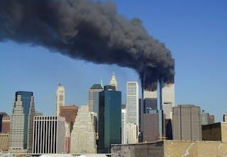 Brand in het World Trade Center