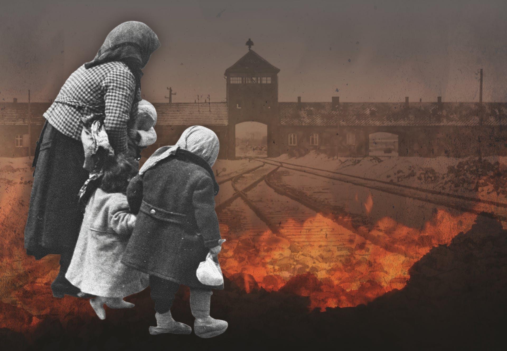 Porten til koncentrationslejren Auschwitz