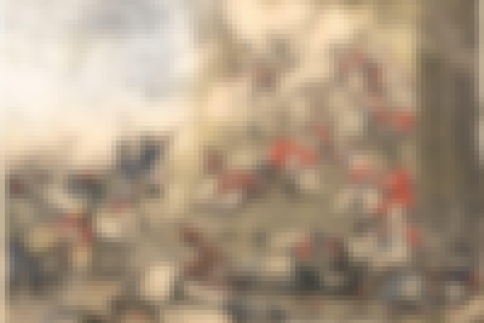 Schweizergardet massakrerades när pöbeln stormade slottet Tuilerierna i Paris i augusti 1792.