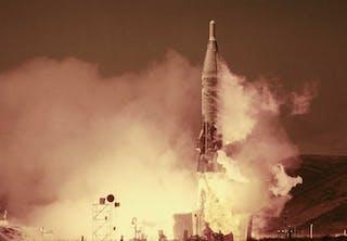 Uppsändning av missil under kalla kriget