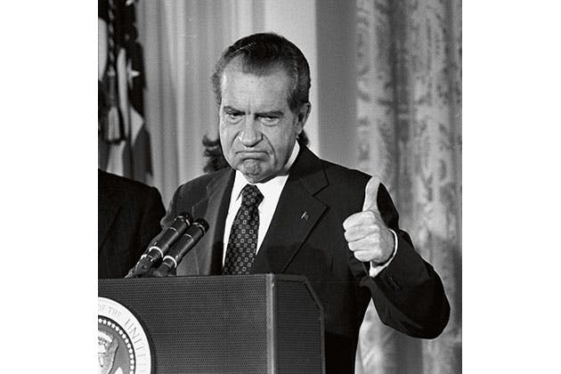 Nixons svære afskedstale