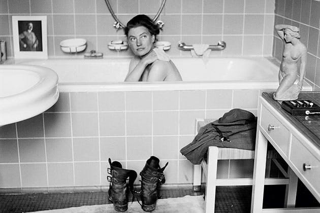 I førerens badekar.