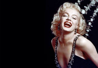 Marilyn Monroe black background