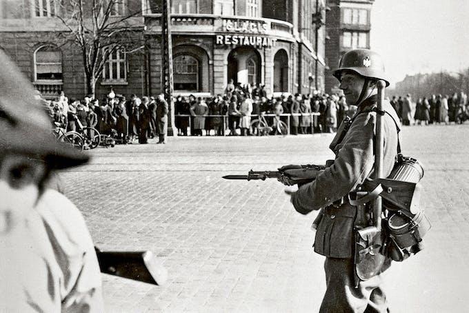 Operation Weserübung, den tyska ockupationen av Danmark.