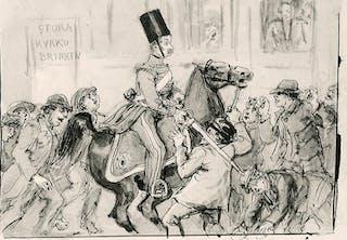 Marsoroligheterna i Stockholm 18–19 mars 1848.