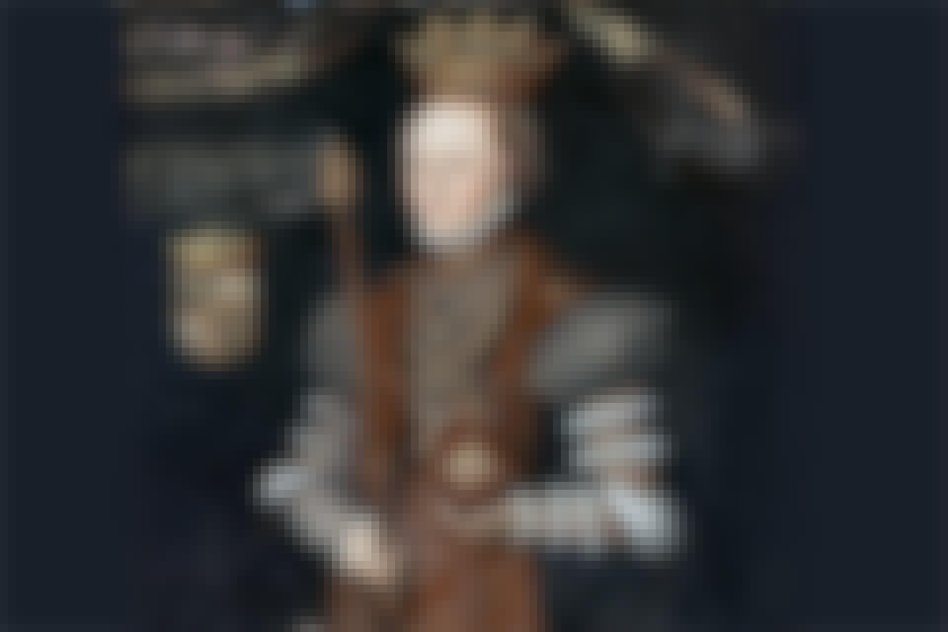Drottning Margareta, född Leijonhufvud, gift med Gustav Vasa, på ett samtida porträtt  av den nederländske konstnären Johan Baptista van Uther.
