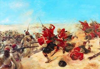 Slaget vid Tel-el-Kebir den 13 september 1882.
