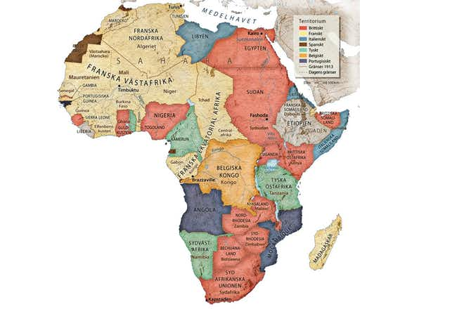 Kapplopningen Om Afrika Varldenshistoria Se
