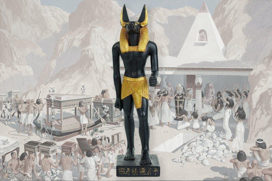 Den egyptiske guden Anubis.