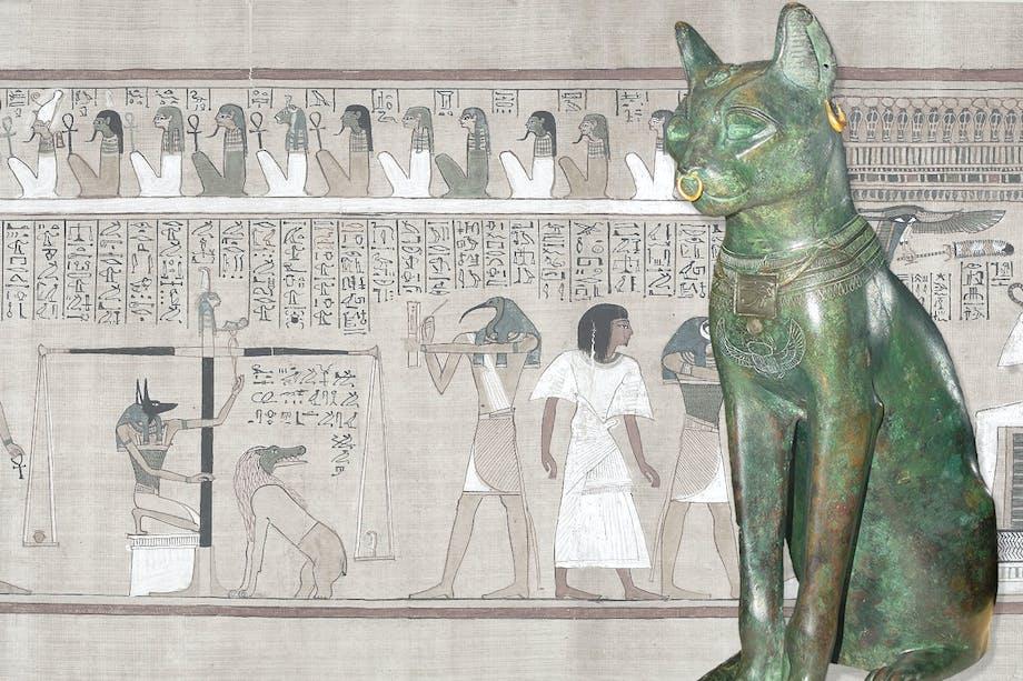 Den egyptiska fruktbarhetsguden Bastet i form av en katt-statyett.