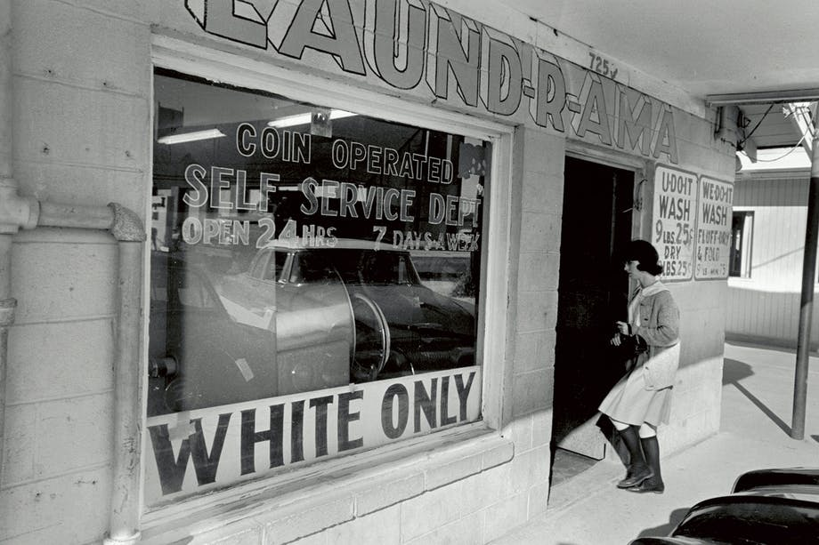 "Tvättomat för ""White only"" i New Orleans 1963."