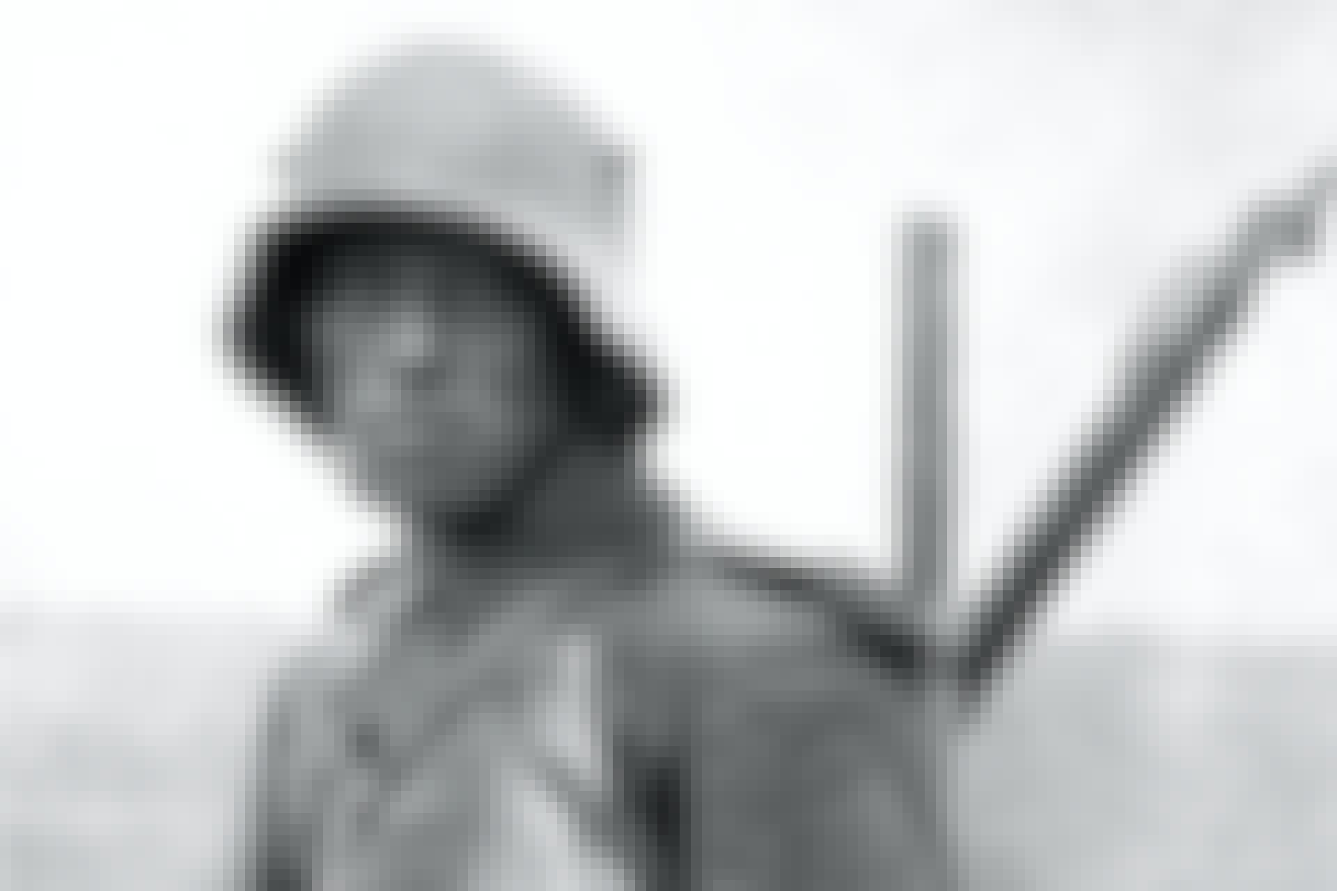 Tysk soldat med stahlhelm från första världskriget.