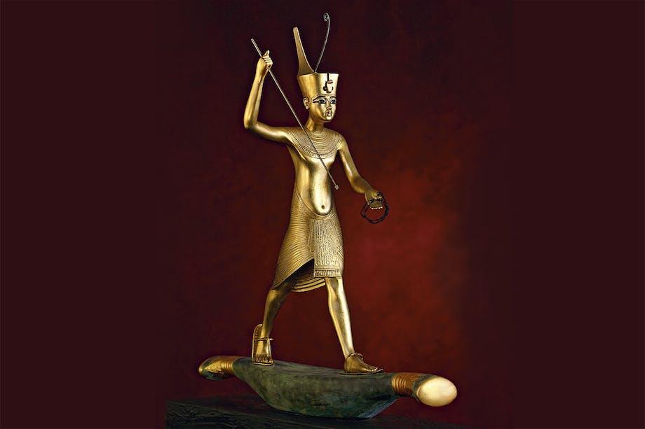 Tutankhamons skattkammer. Forgylt statuett.