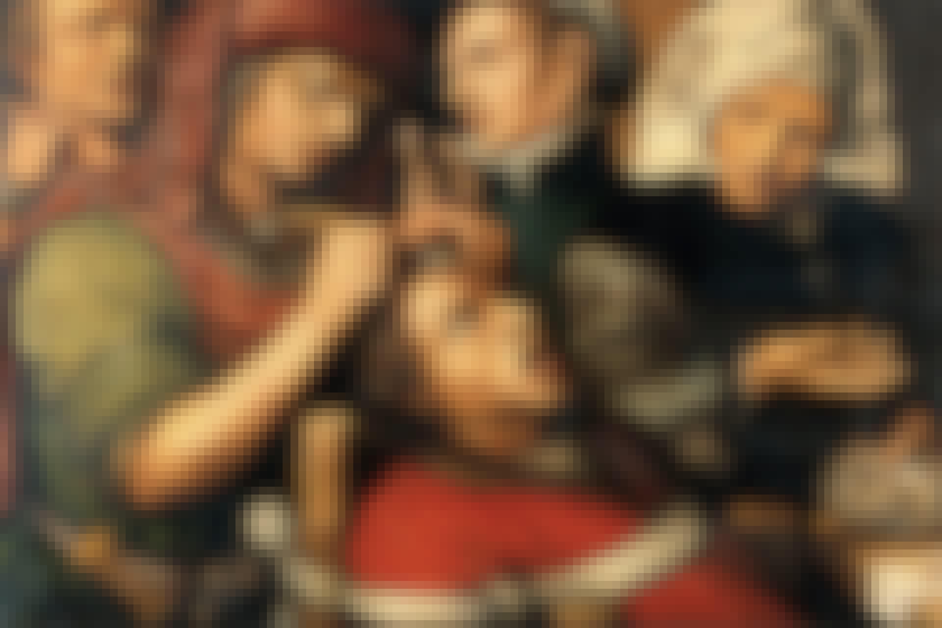 Operation i skallen utan bedövning på 1500-talet.
