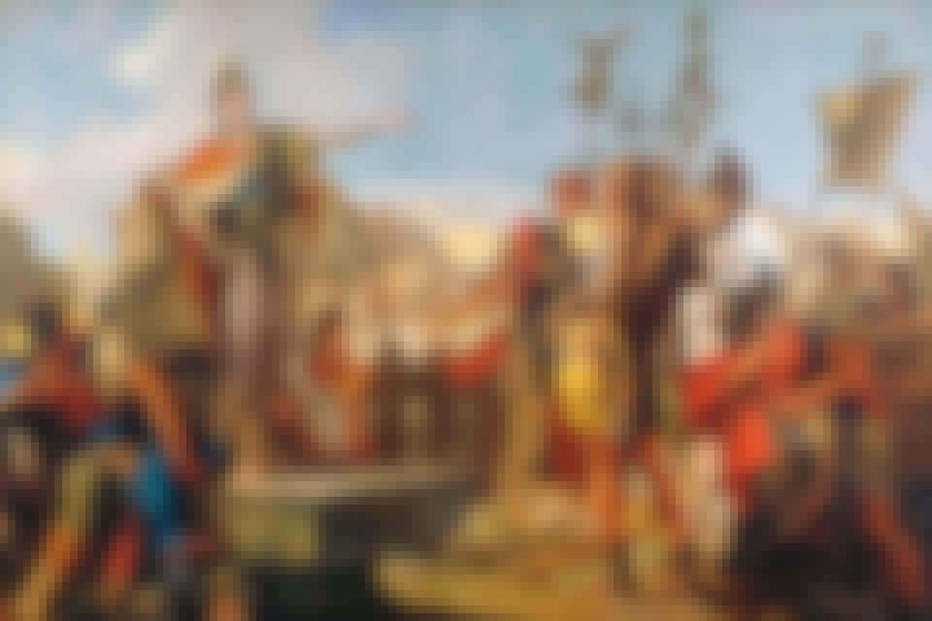 Palmyras drottning Zenobia talar till sina soldater.