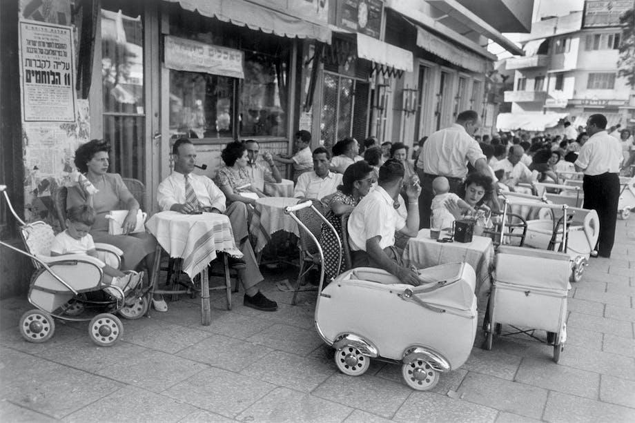 Ben Yehuda Street, Tel Aviv, Israel, mai 1948