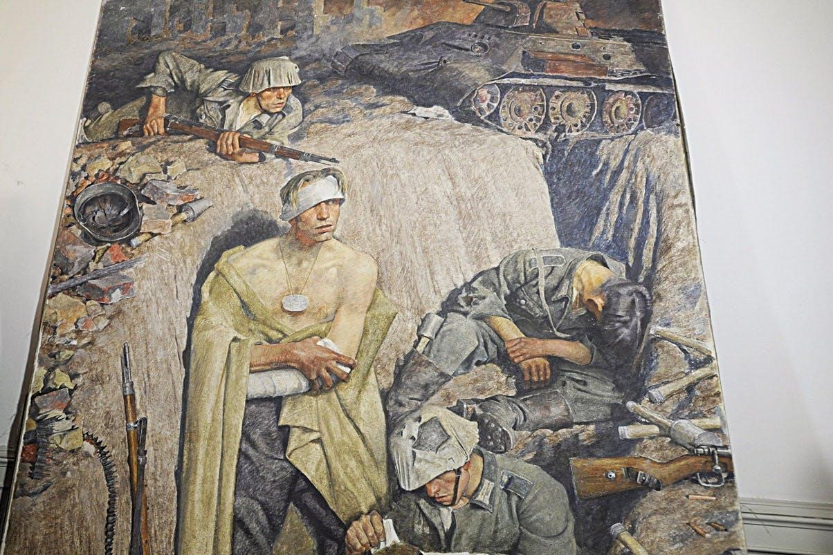 Jiri Kuchar with painting