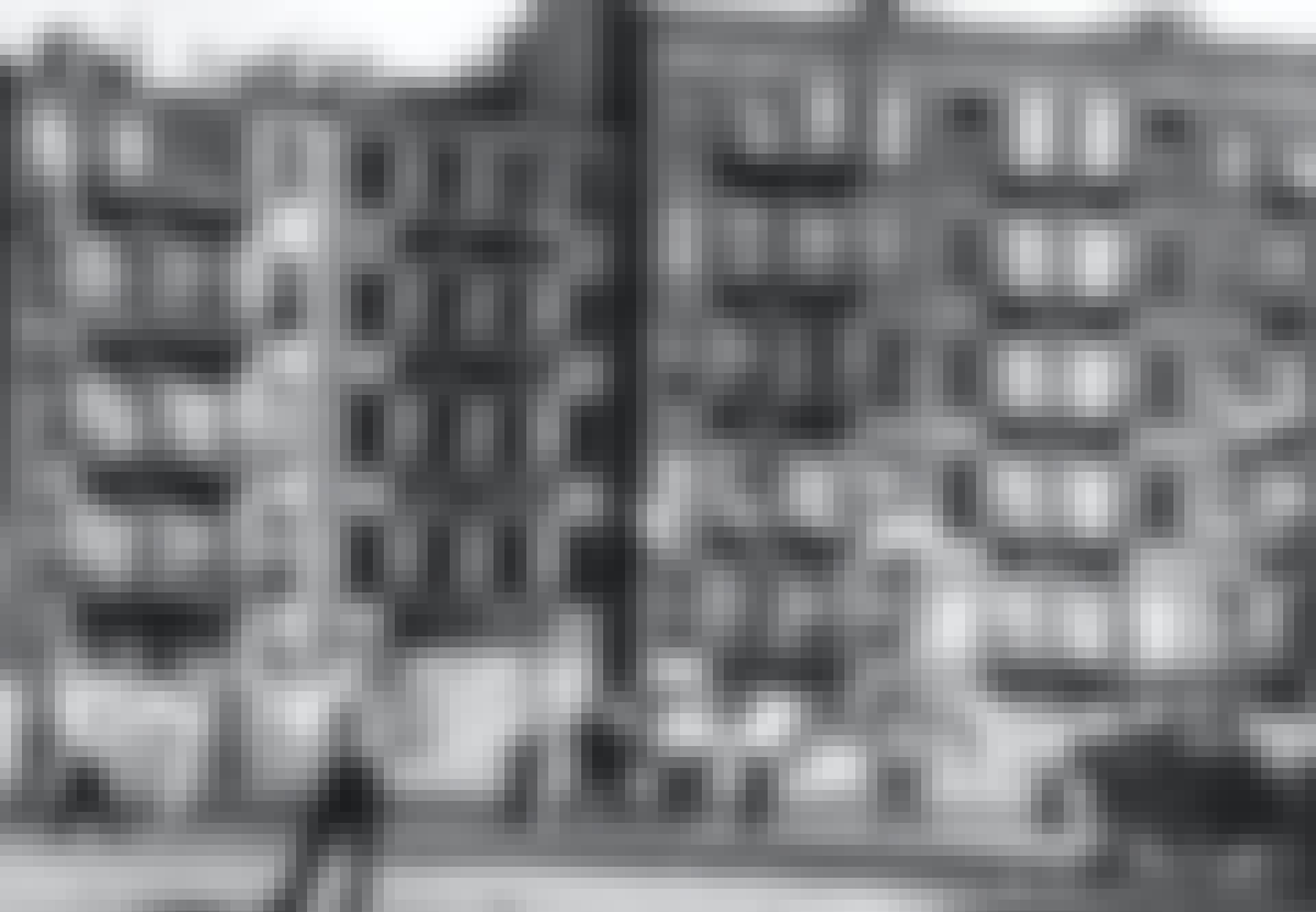 Manhattan brick buildings